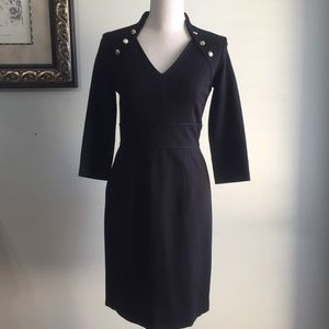 WHBM V-Neck Black Dress